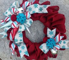 Deco mech wreath