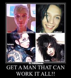 Andy Biersack. Get a man who can do it all.
