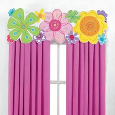 Colorful Flowers Window Treatments for Girls Rooms