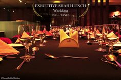 Don't miss the opportunity of dining like royalty. Relish on Executive Shahi #Lunch at #Pageone on weekdays*. #FineDining #MultiCuisine #Restaurant #WorldCuisine #WorldNews #IngredientsForGoodLife