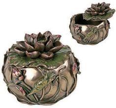 art nouveau jewelry | Art Deco Jewelry Box - Art Nouveau - Lotus Box ARTSUM6925 Mandarava ...
