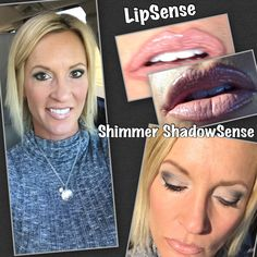 Bravo lined with Nude LipSense & Silver Glitter Gloss. Eyes have Snow, Onyx, Granite #ShadowSense & Silver #Shimmer ShadowSense.