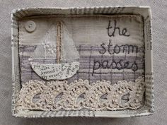 I've been busy stitching work for my stall at the Cotswold Vintage Fair in Toddington, Glos on Saturday August. Fabric Art, Fabric Crafts, Sewing Crafts, Sewing Projects, Embroidery Stitches, Hand Embroidery, Machine Embroidery, Art Du Fil, Little Presents