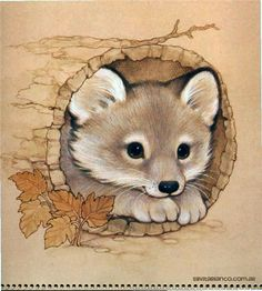 Ruth Morehead Forest Friends Collection fox in log Cute Animal Drawings, Cute Drawings, Horse Drawings, Baby Animals, Cute Animals, Fox Art, Forest Friends, Cute Illustration, Cute Cartoon