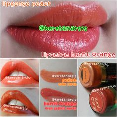 Perbandingan lipsense Peach & Burnt Orange
