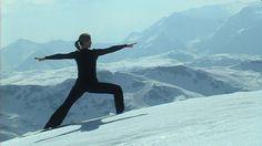 skiing + yoga