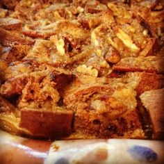 Cinnamon Raisin Bread Pudding with Brown Sugar Bourbon Sauce    G-Free Foodie #GlutenFree