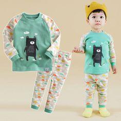 Vaenait-Baby-Toddler-Kids-Boys-Girls-Clothes-Pajama-Set-Bear-Friend-12M-7T