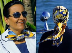 scarves worn in nautical style