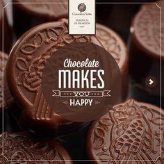 Chocolate MAKES YOU HAPPY - Tradycja ze Smakiem 1946 - Cukiernia Sowa - Poland