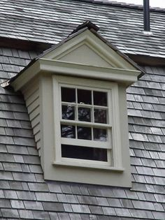 Dormer Window Vertical Window Protruding Through Sloping
