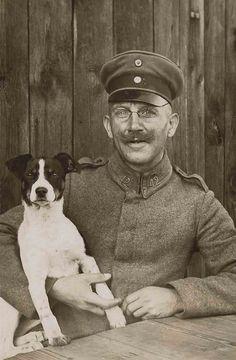 WWI German portrait by Libby Hall Dog Photo, via Flickr