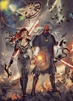 Qi'ra and Darth Maul Star Wars Ring, Star Wars Jedi, Star Wars Art, Star Wars Pictures, Star Wars Images, Saga, Star Wars Concept Art, Star Wars Wallpaper, Star Wars Gifts