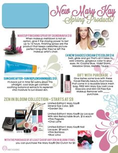 New Mary Kay Spring Colors!!! Get them now before they're gone!!! <3 Order any products from Mary Kay at my website www.marykay.com/mysparkles