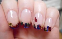 Super Awesome Nerdy NAILS! | SMOSH  tetris
