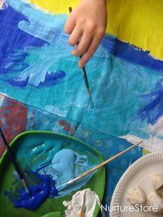 Great kids art project : painting landscapes