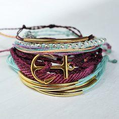 Gold Bar Burgundy | Pura Vida Bracelets Use the code BRIDGETKARCHER20 to get 20% off. https://puravidabracelets.refersion.com/c/1c32