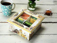 Manualidades y Artesanías | Caja de té | Utilisima.com