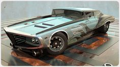 Super cool half old school thunderbird half futuristic car 010809 - NFZ W4 by…