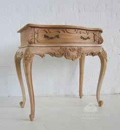 Heavily Carved Baroque Bedside / Baroque Bedside Cabinet 1 Drawer / Dutch Connection