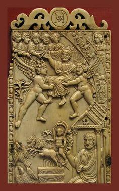 Вознесение Св. Петра Резьба из слоновой кости Британский Музей