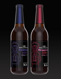 Beer labels for a handcraft brewery 2013 by András Sütő, via Behance