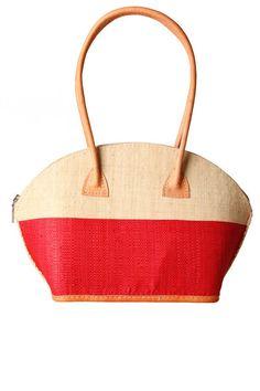 Half Orange Woven Summer Bag