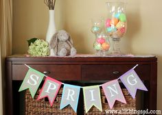 Bringing some spring cheer to a little corner of our house!