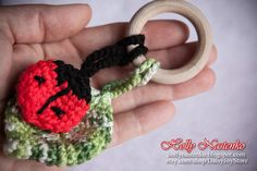https://www.etsy.com/listing/218538043/crochet-lady-bug-baby-teething-ring?ref=listing-shop-header-1  Crochet Lady Bug Baby Teething Ring