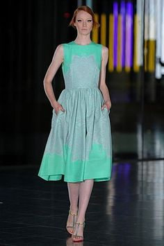 Jonathan Saunders SS12. #lifeinstyle #greenwithenvy