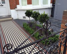 Bespoke storage grey colour slate paving path mosaic black red white London Balham Clapham Wandsworth Contact anewgarden for more information Slate Paving, London Garden, Gray Color, Colour, Mosaic Garden, Rest Of The World, Paths, Entrance, Red And White