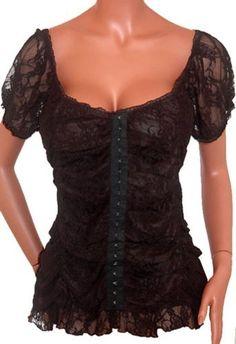 FUNFASH BLACK LACE EYELETS CORSET SeXy TOP SHIRT CLOTHING Plus Size Womens New 1X 18 20 Made in USA Funfash, http://www.amazon.com/dp/B008G3X3MU/ref=cm_sw_r_pi_dp_Xymjqb1W97EWV
