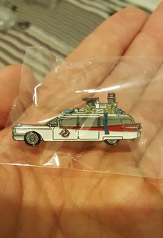 Ghostbusters 1984 Ecto-1 retro enamel pin by GoldSaucerstudios on Etsy https://www.etsy.com/listing/490577481/ghostbusters-1984-ecto-1-retro-enamel