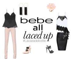 """""""All Laced Up for Spring with bebe: Contest Entry"""" by lacasadellostile ❤ liked on Polyvore featuring Bebe, Antonio Berardi, Dettagli, Lacasadellostile and alllacedup"""