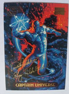 CAPTAIN UNIVERSE Marvel Masterpieces GOLD FOIL SIGNATURE SERIES #19 1994 Fleer in Collectibles, Trading Cards, Comic | eBay
