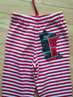 Minnesota Wild Baby Hockey Pants ~ Red & White Striped ~ Old Navy Size 18-24 Mo. ~ New ~ Super Cute for the Little Hockey Fan ~ Great Gift! by ArtThatCooks on Etsy - SOLD