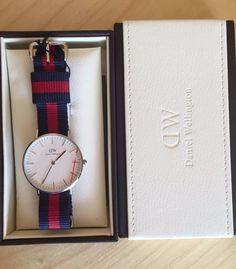Daniel Wellignton 0601DW Classic Oxfrod Ladys wrist watches strap blue navy&red #DanielWellington