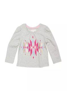 Toddler Girls // Ikat Print Top