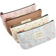 Canvas Makeup Or Pencil Bag Set Of 4 Just $4 Shipped! - http://couponingforfreebies.com/canvas-makeup-pencil-bag-set-4-just-4-shipped/