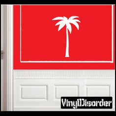 Palm Tree Wall Decal - Vinyl Decal - Car Decal - NS001