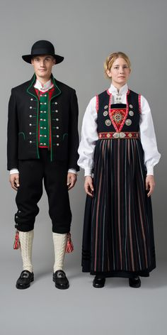 Hello all, Today I will cover the last province of Norway, Hordaland. This is one of the great centers of Norwegian folk costume, hav. Folk Costume, Costume Dress, Norwegian Clothing, Folk Clothing, Festival Wear, Fashion History, Daily Wear, Traditional Dresses, How To Wear