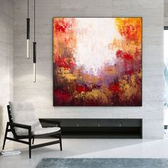 Oversized Wall Art Modern Abstract Painting Home Decor image 0 Abstract Canvas Art, Canvas Wall Art, Oversized Wall Art, Office Wall Art, Office Decor, Modern Wall Decor, Modern Art, Colorful Artwork, Extra Large Wall Art