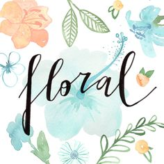 Floral watercolour illustration and lettering by Giorgia Bressan