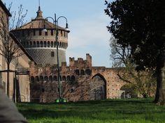 Fundos do Castello Sforzesco - Milano, Italia