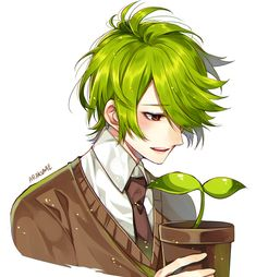 #cookie run | Tumblr Anime Green Hair, Character Inspiration, Character Art, Fantasy Character Design, Rantaro Amami, Beauté Blonde, Cookie Run, Danganronpa Characters, Image Manga