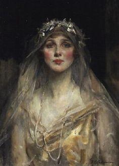 James Jebusa Shannon, Portrait of a bride, Diana Manners Cooper