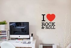 Wall Vinyl Sticker Decal Art Design I Love Rock&roll Wall Inscription Room Nice Picture Decor Hall Wall Chu935 Thumbs up decals,http://www.amazon.com/dp/B00K18M8RE/ref=cm_sw_r_pi_dp_SfTHtb0E6ERQPRAZ