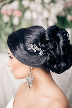 black wedding hairstyle updos