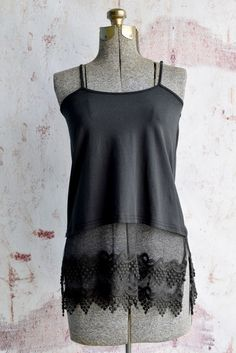 Lace top extenders add some flair and a touch of lace to any top from your closet! Very functional as well as adorable! { lacistreet.com }