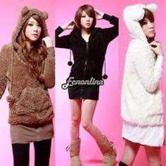 Hoodie fleece jacket coat warm outerwear